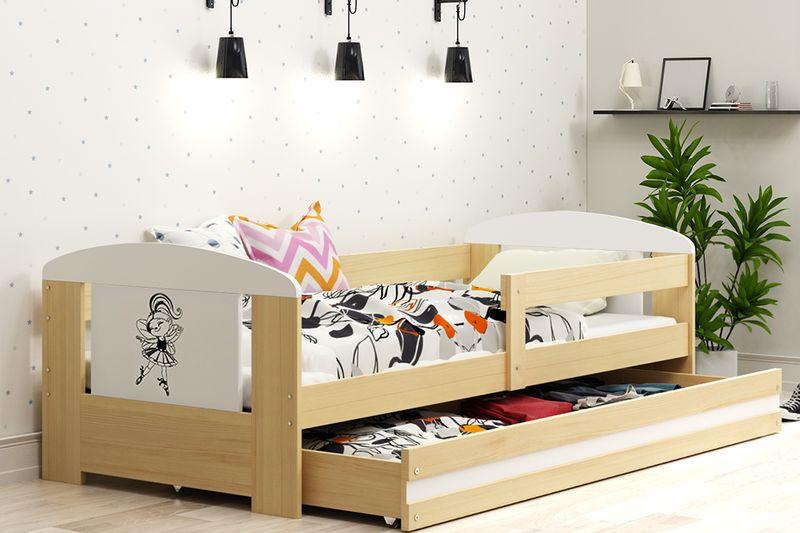 Łóżko pojedyncze FILIP 160x80 dla dzieci + SZUFLADA + BARIERKA zdjęcie 13