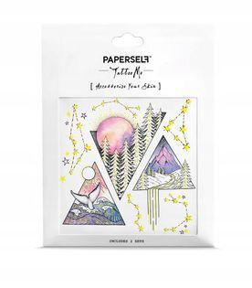Paperself tatuaż wodny tymczasowy Triangles