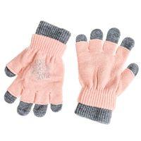 PEPCO Rękawiczki dziewczęce cekiny S czarny