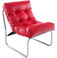 BOUDOIR fotel czerwony, skóra eko