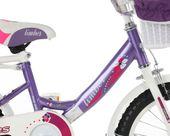 ROWEREK Lillies 16 Limber dla dziewczynki miejski Rower + kosz + sakwy zdjęcie 5