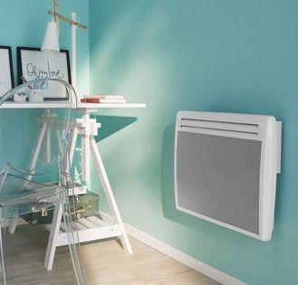 Promiennik grzejnik 1000W kwarcowy biały stal na ścianę do 10m fr1