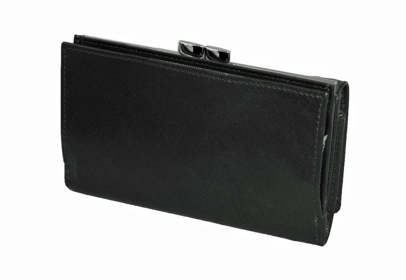 Czarna damska portmonetka Pierre Cardin, skóra naturalna zdjęcie 2