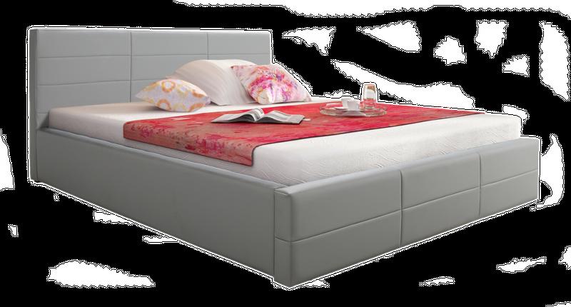 łóżko 200x200 Tapicerowane Loka Stelaż Pojemnik