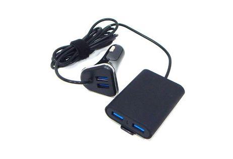ŁADOWARKA SAMOCHODOWA WTYK 12/24V / 2+2 x USB
