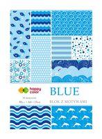 BLOK Z MOTYWAMI HAPPY COLOR A4 15A BLUE