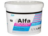 Farba akrylowa do wnętrz Alfa 10L biała 011730