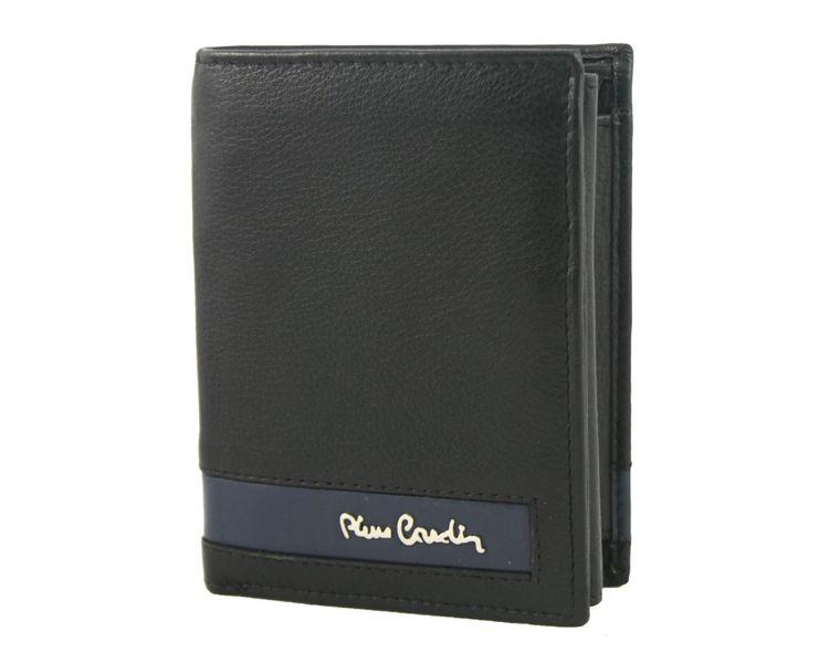 c06dca39760cb Skórzany portfel męski Pierre Cardin RFID czarny z niebieską wstawką  zdjęcie 8