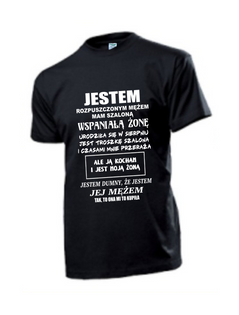 Koszulka koszulki z nadrukiem napisem dla męża