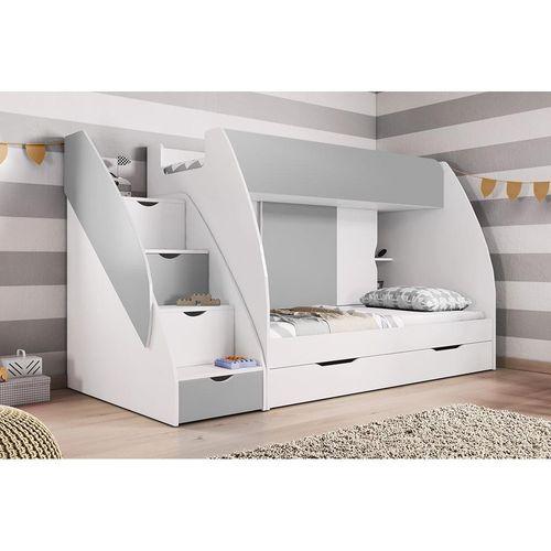 Łóżko piętrowe FRANIO dwuosobowe dla dzieci i młodzieży różne kolory na Arena.pl