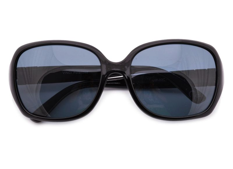 Muchy damskie okulary polaryzacyjne czarne słońce