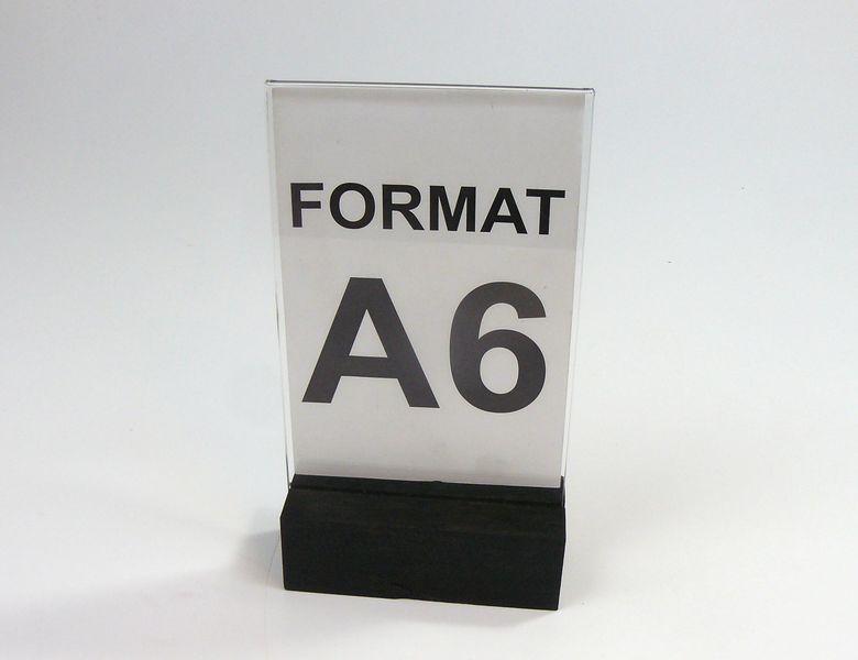 stojak na menu ulotkę z plexi z drewnianą podstawką A6 na Arena.pl