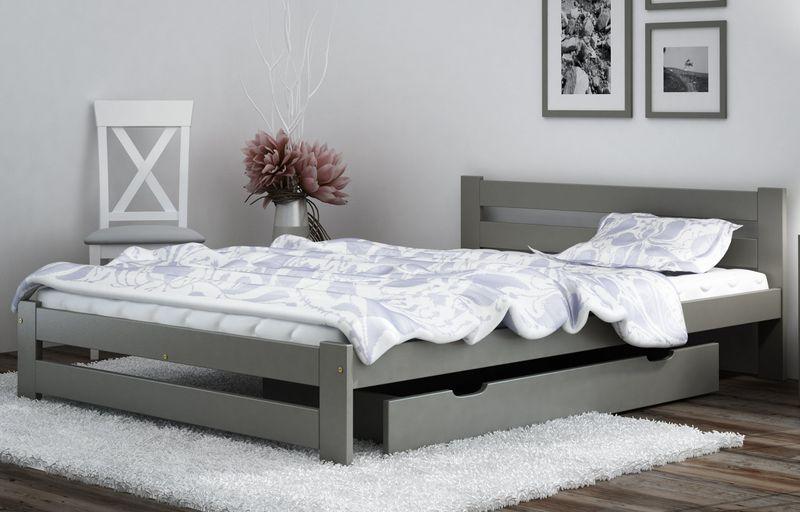łóżko Kada Białeszare 120x200 Materac Stelaż