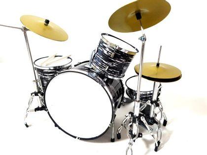 Mini perkusja czarno - biała MDR-0015; skala 1:5