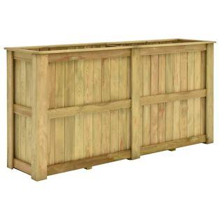 Lumarko Podniesiona donica, 196x50x100 cm, impregnowane drewno sosnowe