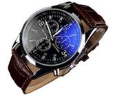 Męski zegarek na rękę Geneva biznesowy A74 br/czar