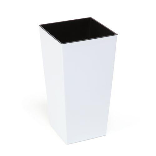 Doniczka wysoka z wkładem połysk Biały H 570 mm na Arena.pl