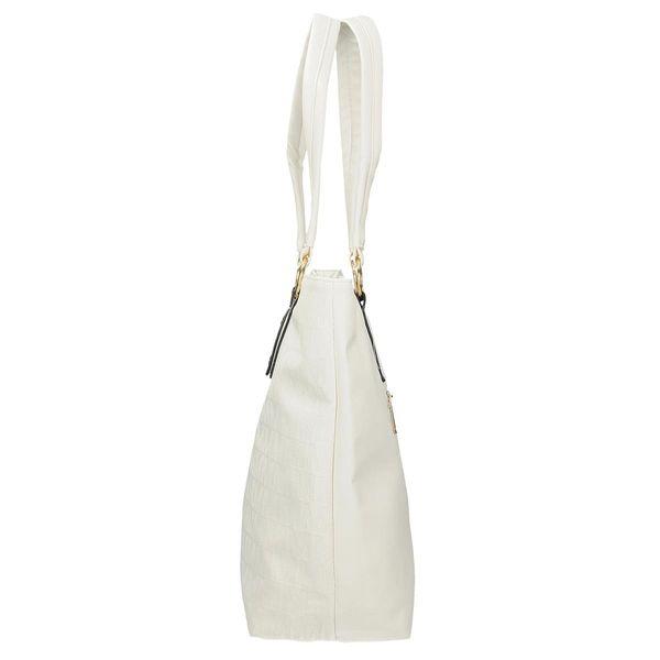 95624ebc3c678 Biała torebka damska na ramię z logo Danblini shopper na ramię zdjęcie 2