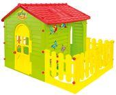 Mochtoys Domek ogrodowy dla dzieci z płotkiem (tarasem)