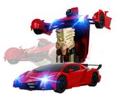 Transformer auto robot sterowany pilotem / ręką USB CZERWONY Z181C zdjęcie 8