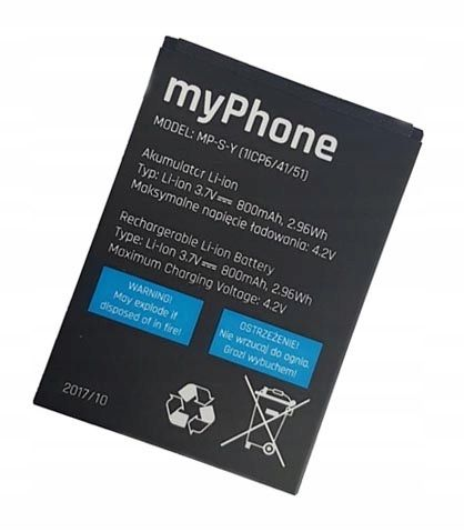 ORYGINALNA Bateria MyPhone 1062 1065 MP-S-Y 800mAh na Arena.pl