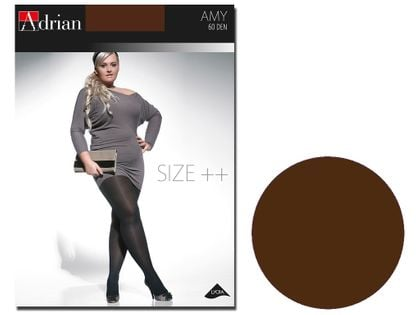 Rajstopy Amy Adrian 60 den size plus Chocolate 7