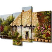 Obraz Na Ścianę 130X85 Wiejski Domek Wiejski Dome