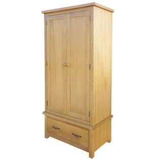 Szafa z litego drewna dębowego 90x52x183cm VidaXL