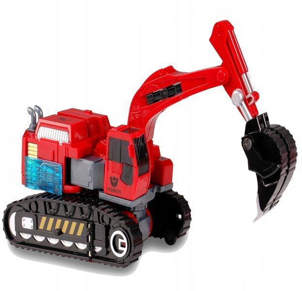TRANSFORMER Robot KOPARKA GĄSIENICOWA 2w1 ARTYK Samochód Auto zdjęcie 4