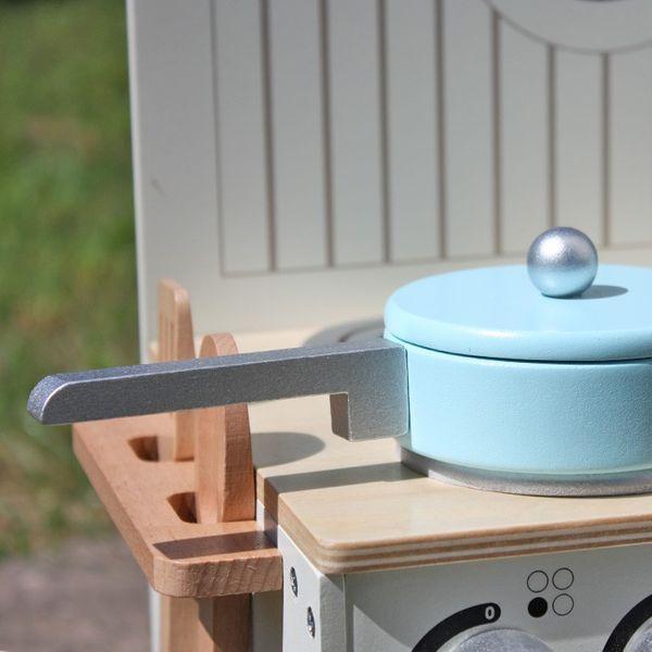 Drewniana Kuchnia Dla Dzieci MINI - ZESTAW NOWOŚĆ zdjęcie 7
