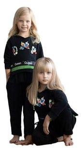 Dziewczęcy bawełniany czarny dres w nowoczesnym stylu.od MałaMi 110/116