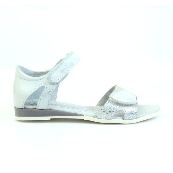 Sandałki biało srebrne Ren But 4333 r.31