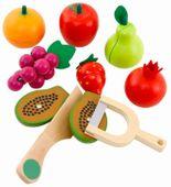Kuchnia Drewniana Dla Dzieci Garnki Akcesoria Owoce Magnetyczne U46U zdjęcie 4