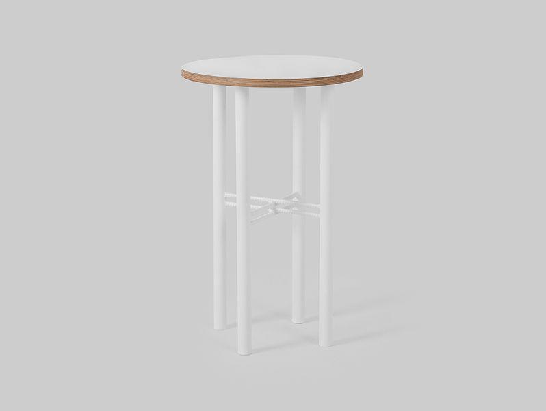 Stolik PENTO 40 - biały, biały, styl design skandynawski, kwietnik zdjęcie 1
