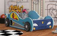 Łóżko AUTO samochód X-Speed LED 180x90 + materac