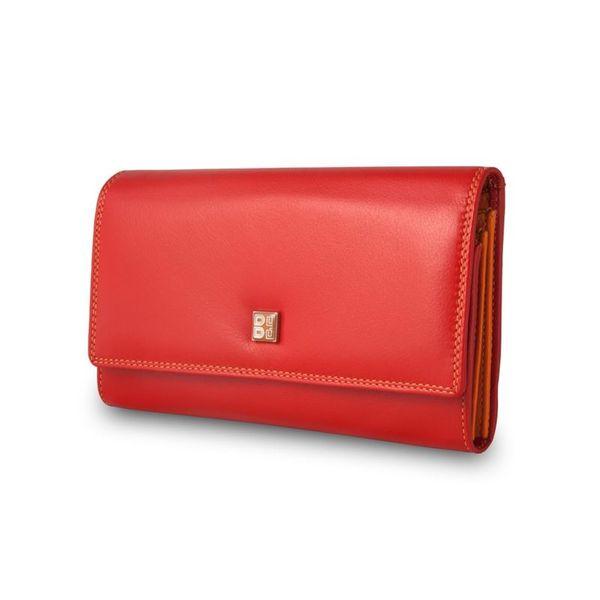 Skórzany portfel damski DuDu®, 534-1165 czerwony zdjęcie 2