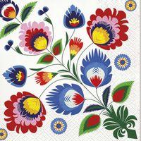 SERWETKI papierowe KWIATY kwiatki  KOLOROWE 20szt