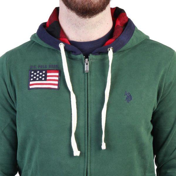 cbb05b15c352 U.S. Polo zielona bluza męska z kapturem zielony M • Arena.pl