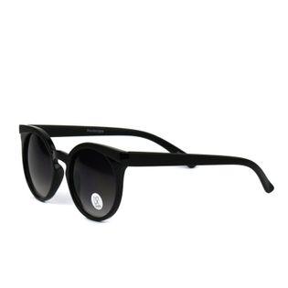 Okulary przeciwsłoneczne damskie kocie czarne mat