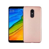 Etui Carbon Fiber Xiaomi Redmi 5 Plus różowo-złoty/rose gold