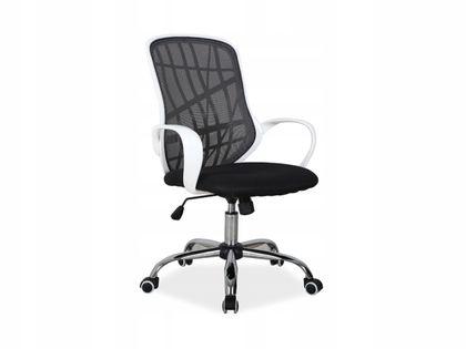 Fotel do biurka DEXTER dla dziecka CZARNO/BIAŁY