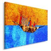 Obraz na płótnie - Canvas, Na łodzi 120x80 zdjęcie 2