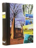 ALBUM, albumy na zdjęcia szyty 200 zdjęć 10x15 cm opis BAOBAB drzewo