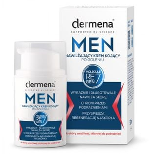 Nawilżający krem kojący po goleniu dermena® MEN