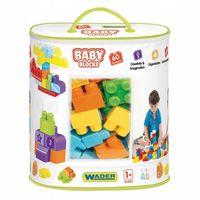 Baby blocks torba 60 szt klocki dla maluszka wader