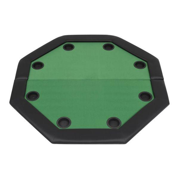 Składany stół do pokera dla 8 graczy, ośmiokątny, zielony zdjęcie 5