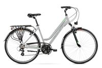 """Rower Romet Gazela 1 L(19"""") jasnoszaro-zielony rower 12"""