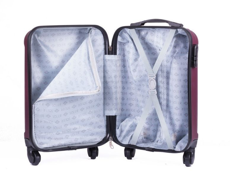 ec3e85f31b9ab Kabinowa walizka podróżna ABS bordowa S Ryanair Wizzair • Arena.pl