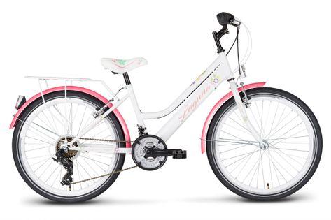 Rower 24 KANDS LAGUNA VS-2 stożek biało-różowy