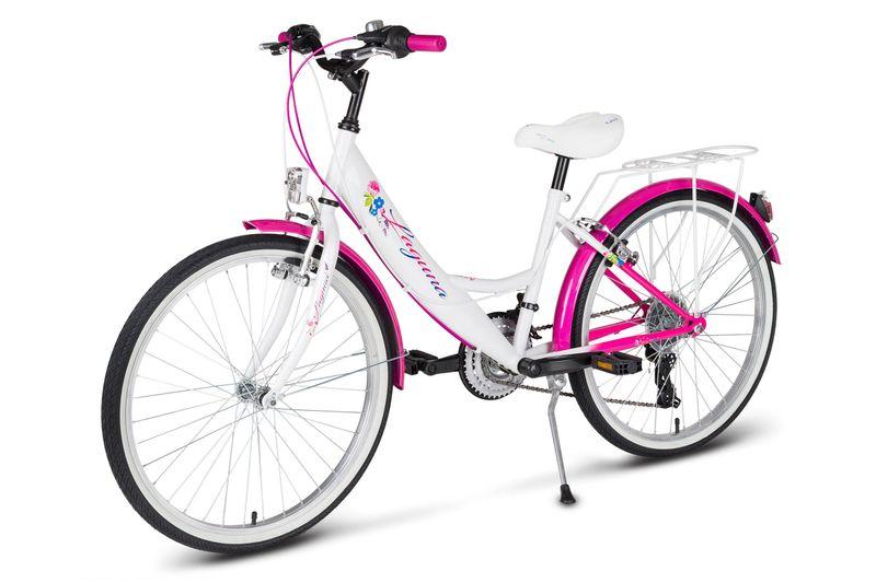 Rower 24 KANDS LAGUNA VS-1 ZWK biało-różowy zdjęcie 5
